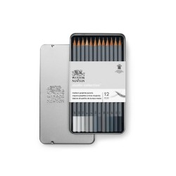 Winsor & Newton scatola metallo 12 matite grafite