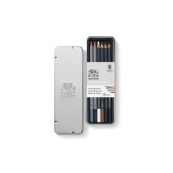 Winsor & Newton scatola metallo 6 matite da schizzo