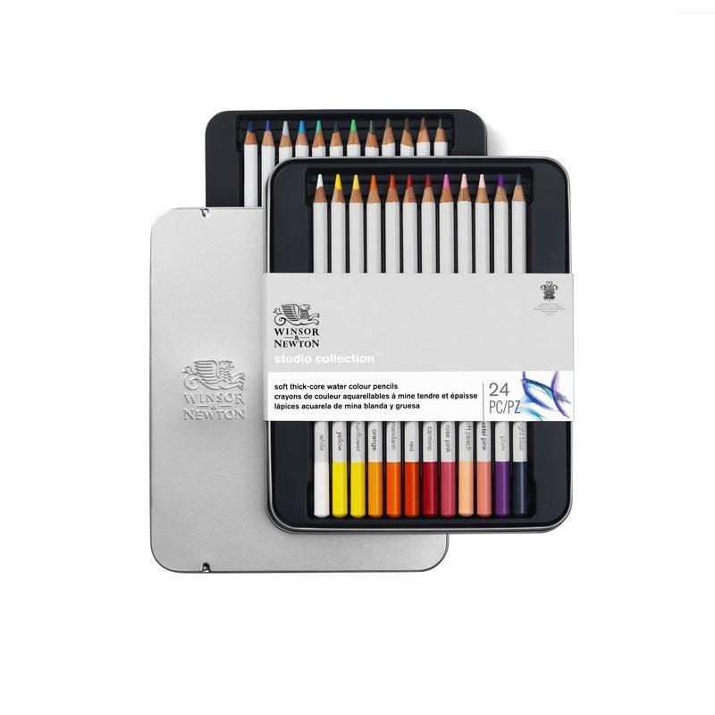 Winsor & Newton scatola metallo 24 matite acquerellabili