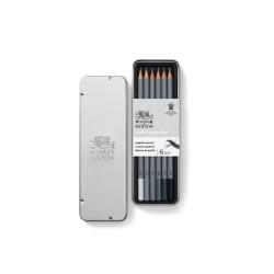 Winsor & Newton scatola metallo 6 matite grafite