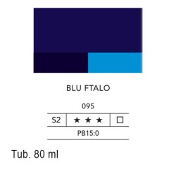 095 - Lefranc acrilico fine blu ftalo