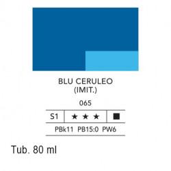 065 - Lefranc acrilico fine blu ceruleo (imit.)