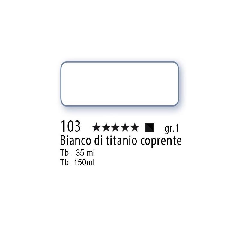 103 - Mussini bianco di titanio coprente