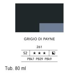 261 - Lefranc acrilico fine grigio di payne