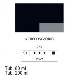 269 - Lefranc acrilico fine nero d'avorio