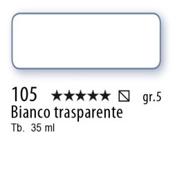 105 - Mussini bianco trasparente