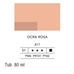 817 - Lefranc acrilico fine ocra rosa