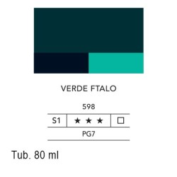 598 - Lefranc acrilico fine verde ftalo