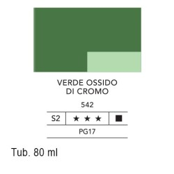 542 - Lefranc acrilico fine verde ossido di cromo