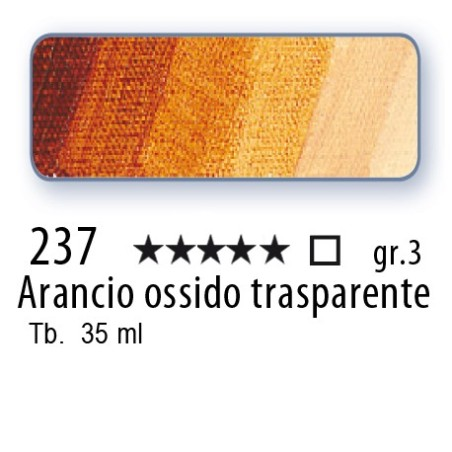 237 - Mussini arancio ossido trasparente
