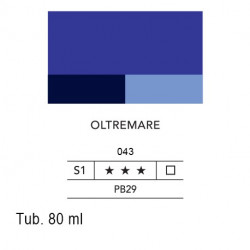043 - Lefranc acrilico fine oltremare