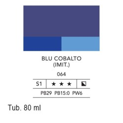 064 - Lefranc acrilico fine blu cobalto (imit.)
