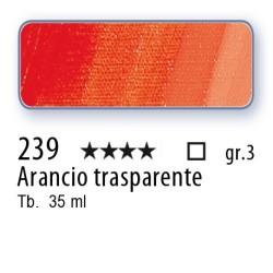 239 - Mussini arancio trasparente