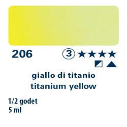 206 - Schmincke acquerello Horadam giallo di titanio