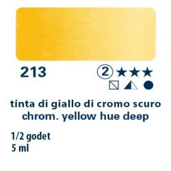 213 - Schmincke acquerello Horadam tinta giallo di cromo scuro