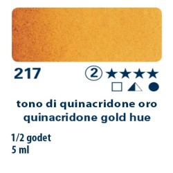217 - Schmincke acquerello Horadam tono di quinacridone oro