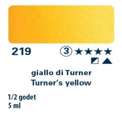 219 - Schmincke acquerello Horadam giallo di Turner