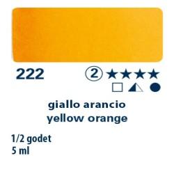 222 - Schmincke acquerello Horadam giallo arancio