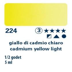 224 - Schmincke acquerello Horadam giallo di cadmio chiaro