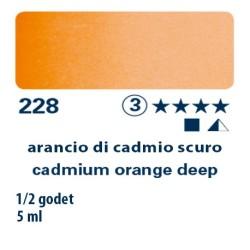 228 - Schmincke acquerello Horadam arancio di cadmio scuro