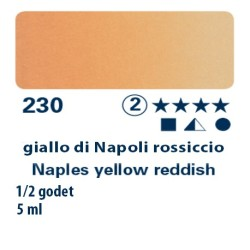 230 - Schmincke acquerello Horadam giallo di Napoli rossiccio