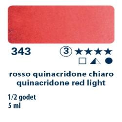 343 - Schmincke acquerello Horadam rosso quinacridone chiaro