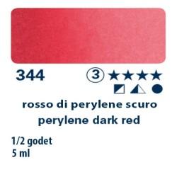 344 - Schmincke acquerello Horadam rosso di perylene scuro