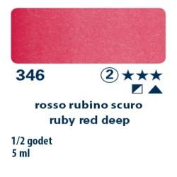 346 - Schmincke acquerello Horadam rosso rubino scuro