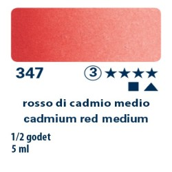 347 - Schmincke acquerello Horadam rosso di cadmio medio