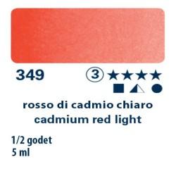 349 - Schmincke acquerello Horadam rosso di cadmio chiaro