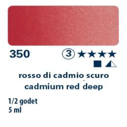 350 - Schmincke acquerello Horadam rosso di cadmio scuro