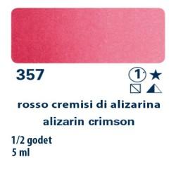 357 - Schmincke acquerello Horadam rosso cremisi di alizarina