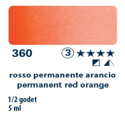 360 - Schmincke acquerello Horadam rosso permanente arancio