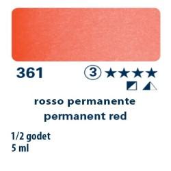 361 - Schmincke acquerello Horadam rosso permanente