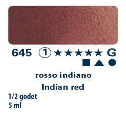645 - Schmincke acquerello Horadam rosso indiano