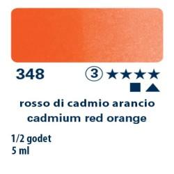 348 - Schmincke acquerello Horadam rosso di cadmio arancio