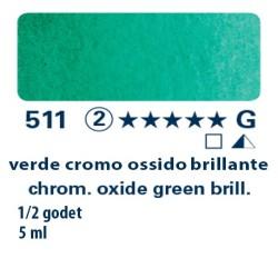 511 - Schmincke acquerello Horadam verde di cromo ossido brill.
