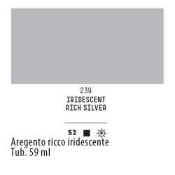 239 - Liquitex Heavy Body Argento ricco iridescente