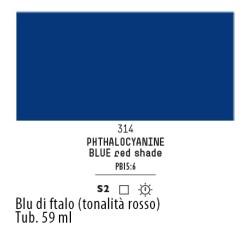 314 - Liquitex Heavy Body Blu di ftalo (tonalita rosso)