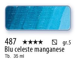 487 - Mussini blu celeste manganese