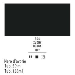 244 - Liquitex Heavy Body Nero d'avorio