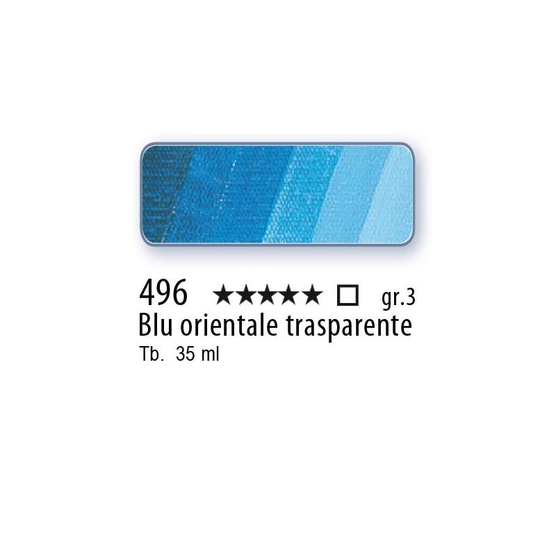 496 - Mussini blu orientale trasparente