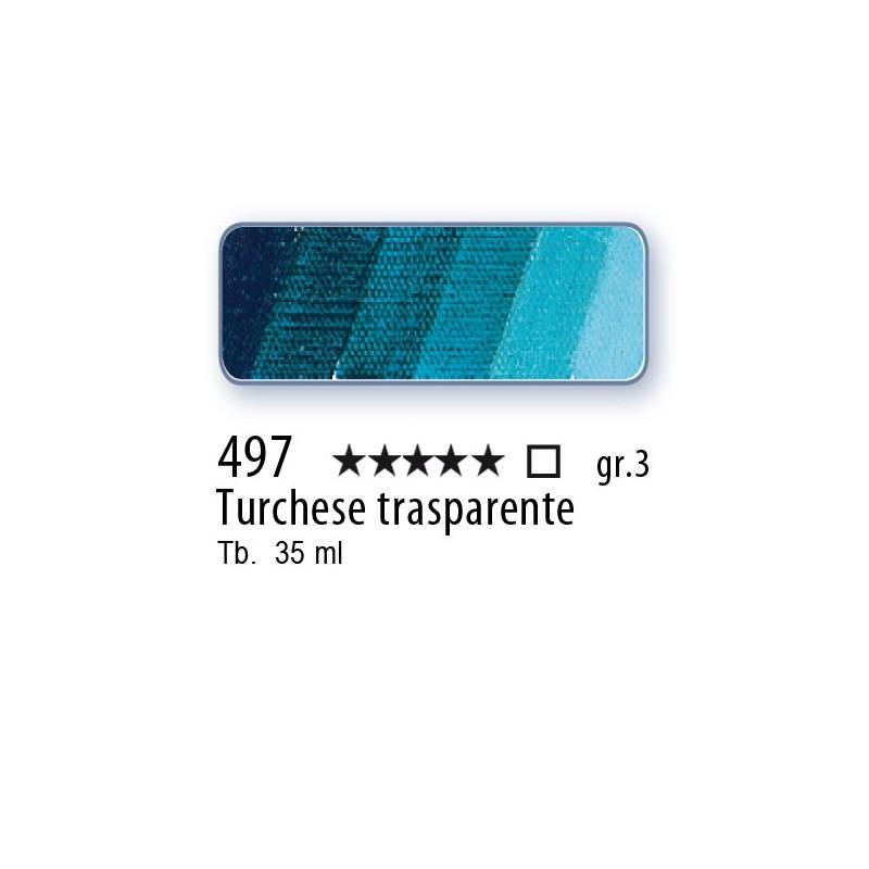 497 - Mussini turchese trasparente