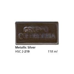 219 - Colorobbia Smalto Metallic silver