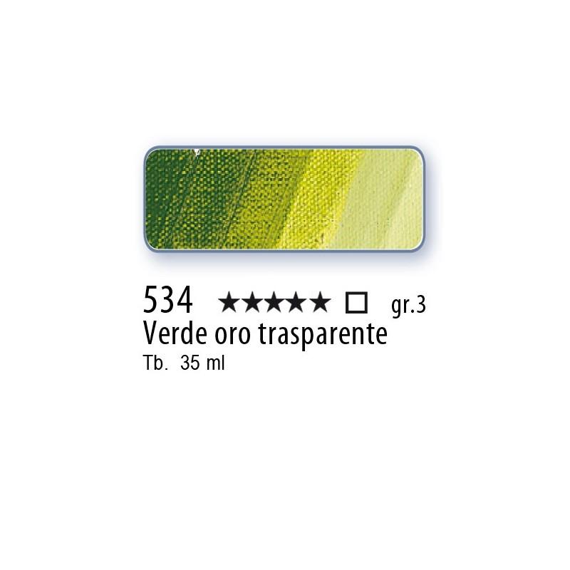 534 - Mussini verde oro trasparente