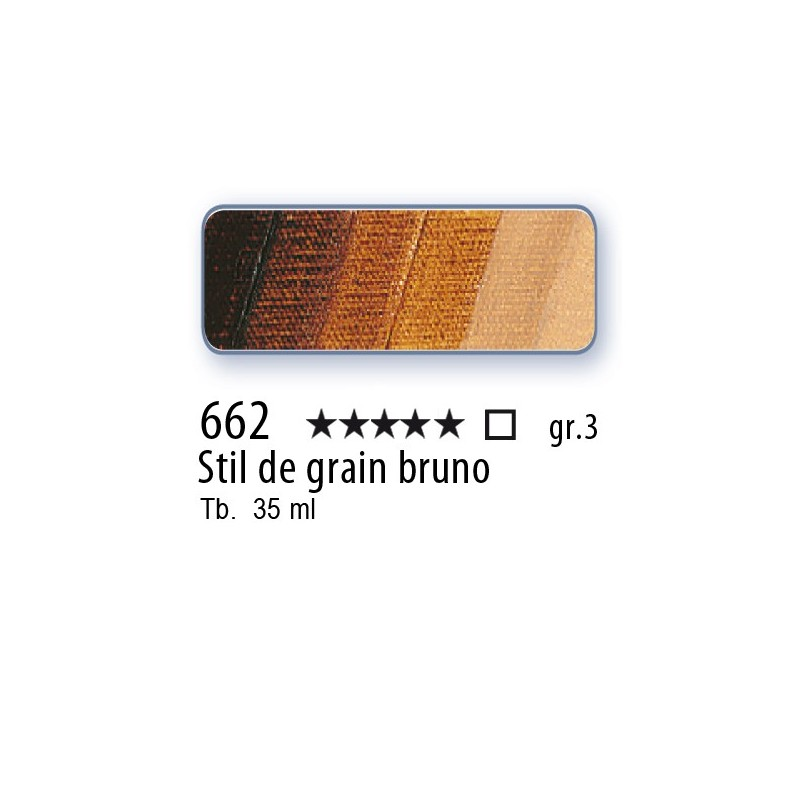 662 - Mussini stil de grain bruno