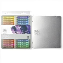 Winsor & Newton scatola in metallo 30 pastelli morbidi