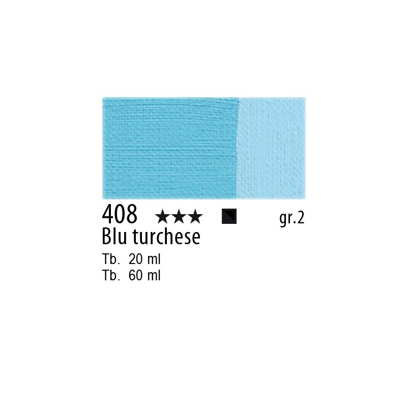 408 - Maimeri Olio Classico Blu turchese