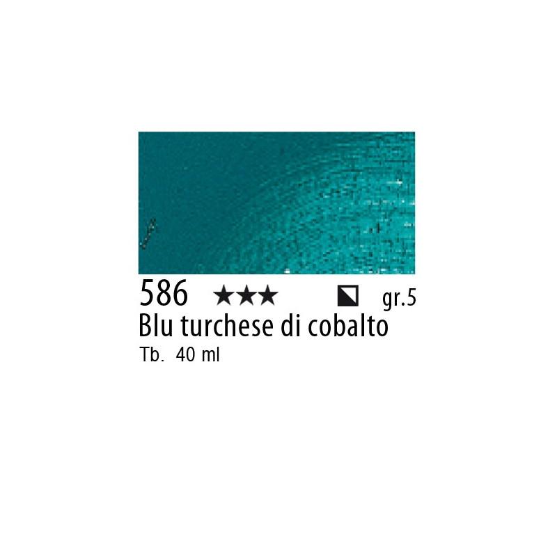 586 - Rembrandt Blu turchese di cobalto