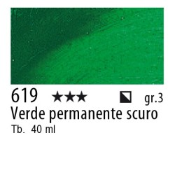619 - Rembrandt Verde permanente scuro
